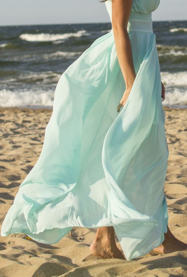 Szyfonowa suknia wieczorowa MAXI Dresstination - Dresstination