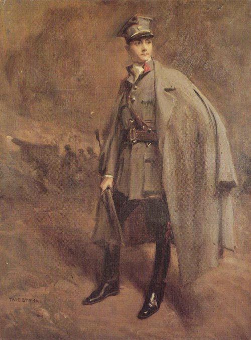 Tadeusz Styka - Portrait of Adam contacts in uniform Hallerczyk