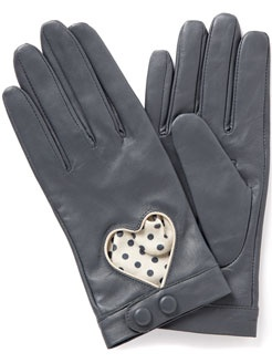 Gorgeous grey driving gloves