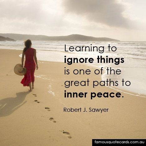 Sometimes the little things people say, and do can bring you down. You dwell on them and they fester. Just let it go! Ignore it:) Being the bigger person and knowing you have an inner peace that they haven't quite reached yet should be humbling.