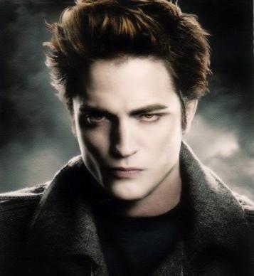 Robert Pattinson as Edward Cullen in The Twilight Saga.