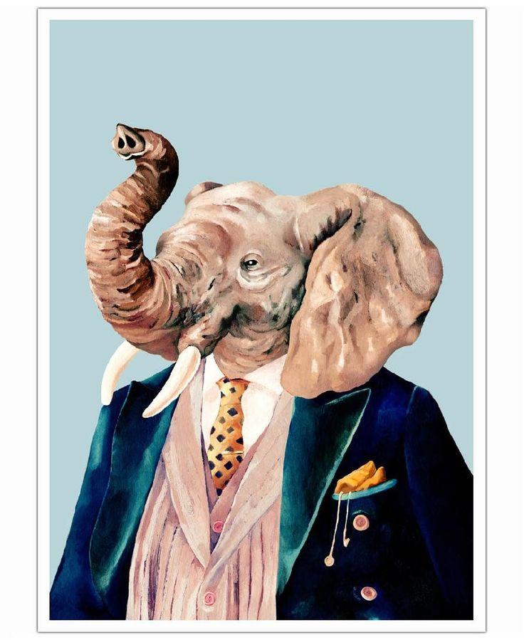Elephant VON Animal Crew now on JUNIQE!