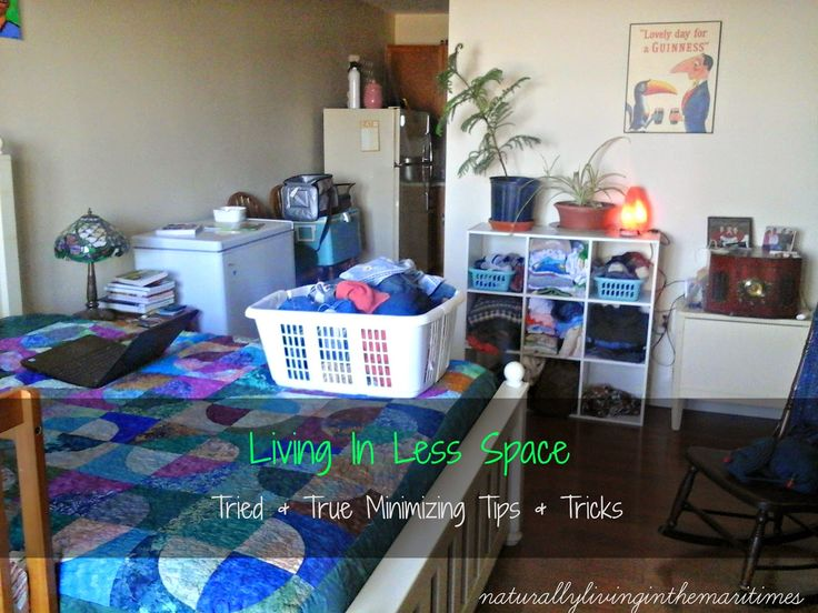 Naturally Living in the Maritimes: Living in Less Space: Tried and True Minimizing Tips and Tricks