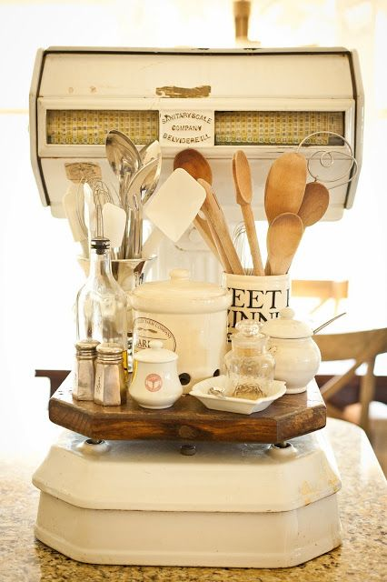 Vintage scale - perfect for display. A simple life kitchen.........eclecticallyvintage.com