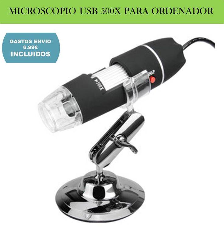 ¡Ofertas y descuentos en electronica y tecnologia Geek! microscopio USB portatil para ordenador PC.