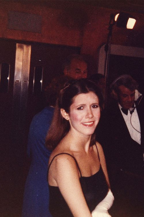 Carrie Fisher at the premiere of Empire Strikes Back