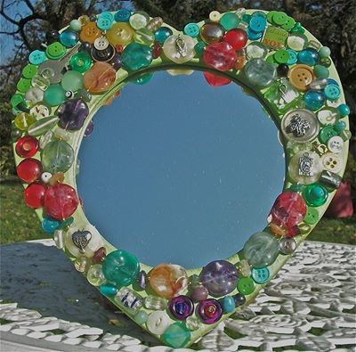 17 migliori immagini su plastica vetro carta legno e for Espejos decorados con piedras