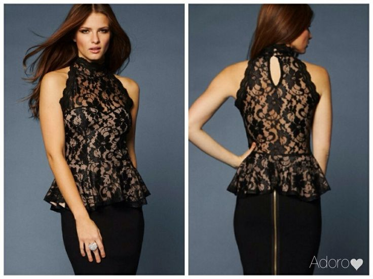 From our corporate range, City Chic, our lace peplum top with sweetheart illusion, cotton inner.  See our Facebook page xx