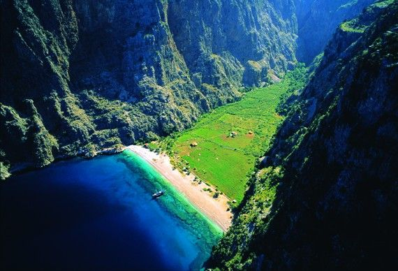 This seriously is an escape!    Butterfly Valley - Fethiye, Turkey #JetsetterCurator