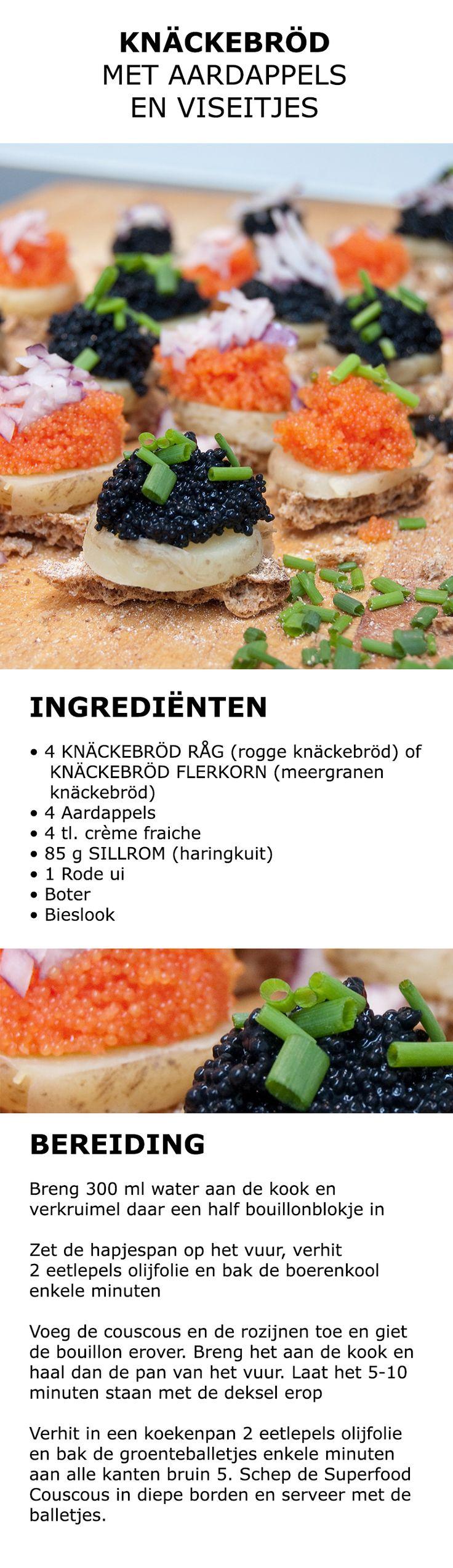 Inspiratie voor in de keuken - Knäckebröd met aardappels en viseitjes | #IKEA #IKEAnl #koken #gerecht #recept #vis