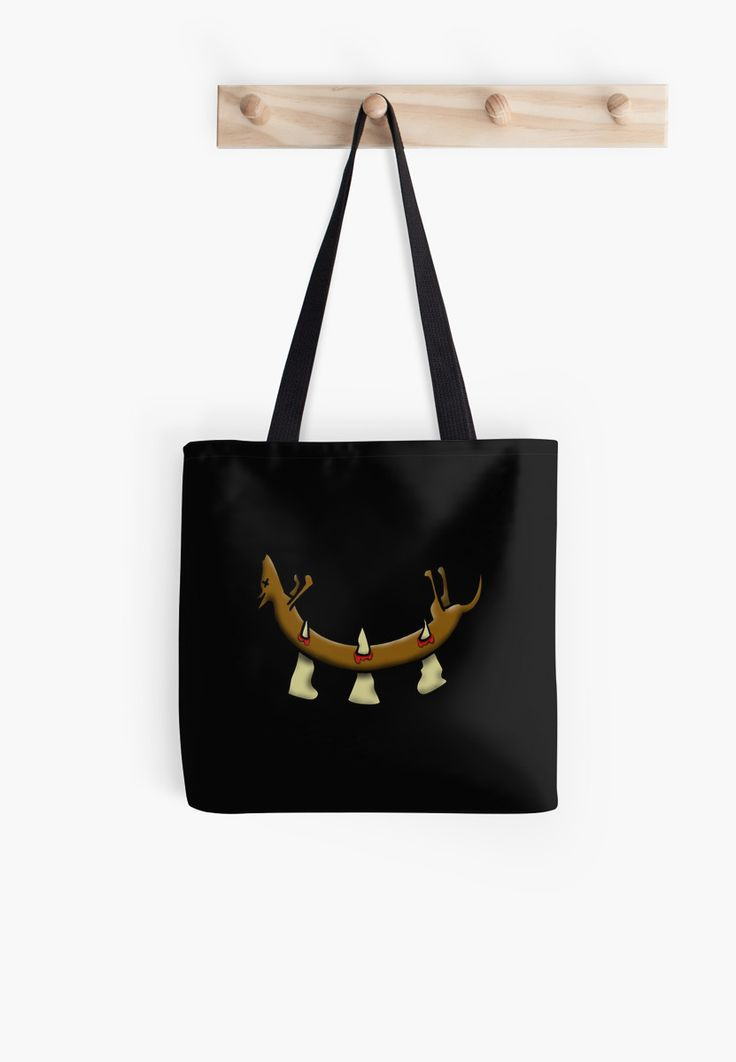 """Go out shopping with this shocking """"Dead Dog (spikes)"""" tote bag."""