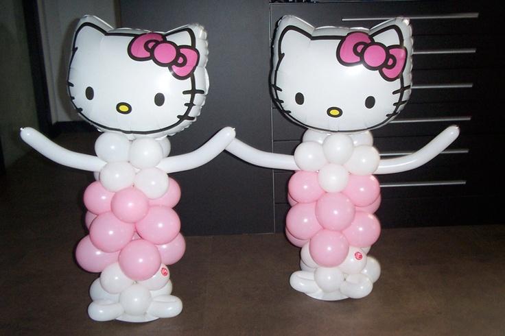 Hello kitty de globos para fiestas infantiles nacimientos - Detalles para cumples infantiles ...