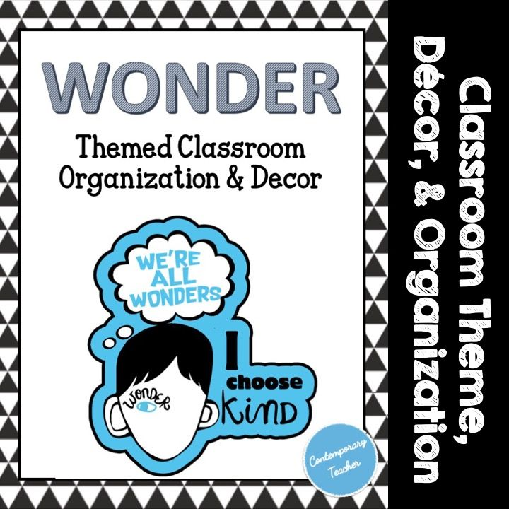 Wonder Themed Classroom Decor Organization Back To School