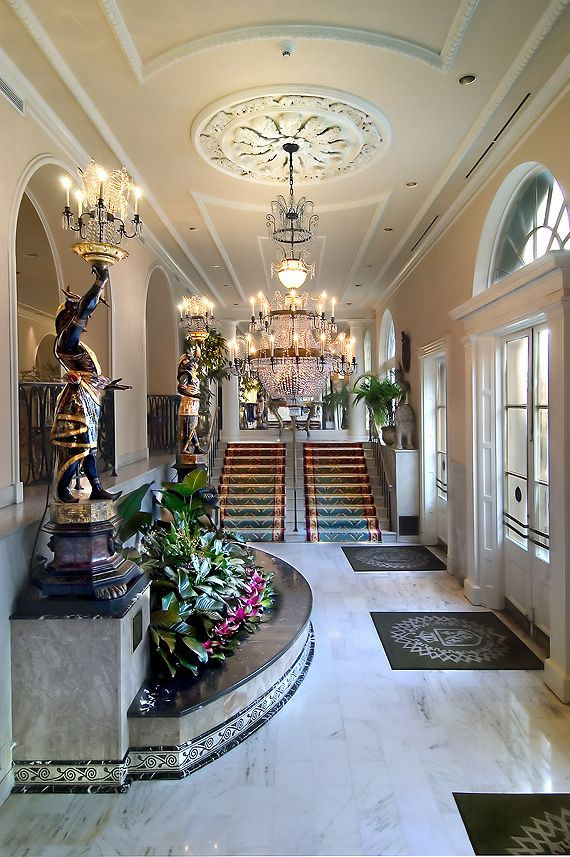 Royal Orleans Lobby~Spent honeymoon, anniversaries.  Owner had fresh fruit, shrimp cocktail, champagne & hand written note in suite waiting for us every visit!  Locals, & still HAD to go very often.  A place to 'live' in total luxury! @Lori Cline Doherty