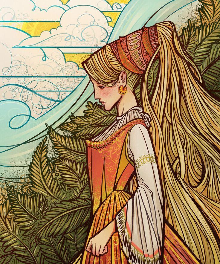 A princess of harvest-- art, bethany-consoliver #art #illustration
