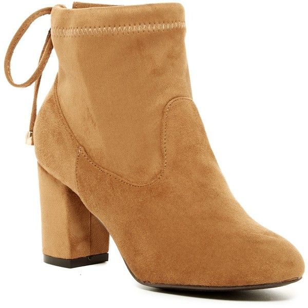 Nature Breeze Bonita Bootie ($25) ❤ liked on Polyvore featuring shoes, boots, ankle booties, ankle boots, camel, camel ankle boots, high heel ankle booties, nature breeze boots, round cap and short boots