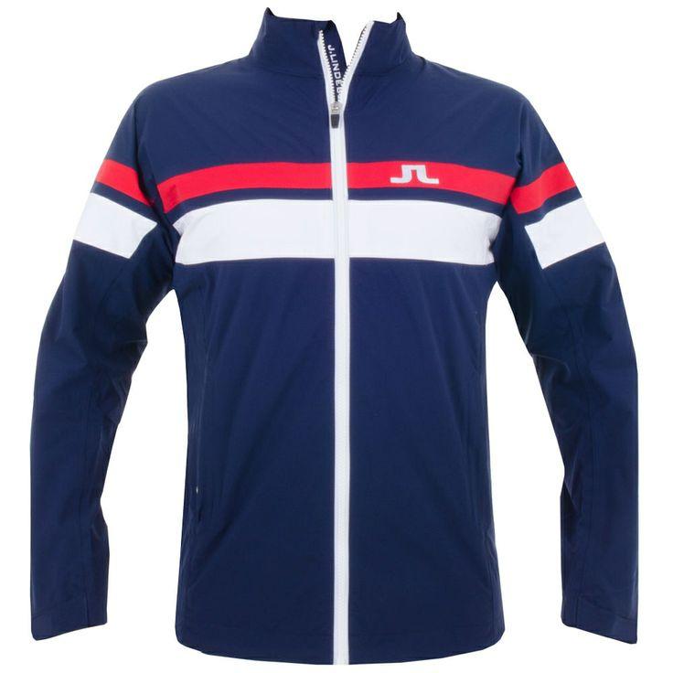 J Lindeberg Swing Jacket 2.5 PLY Navy Purple #golf #fashion #trendygolf #jlindeberg
