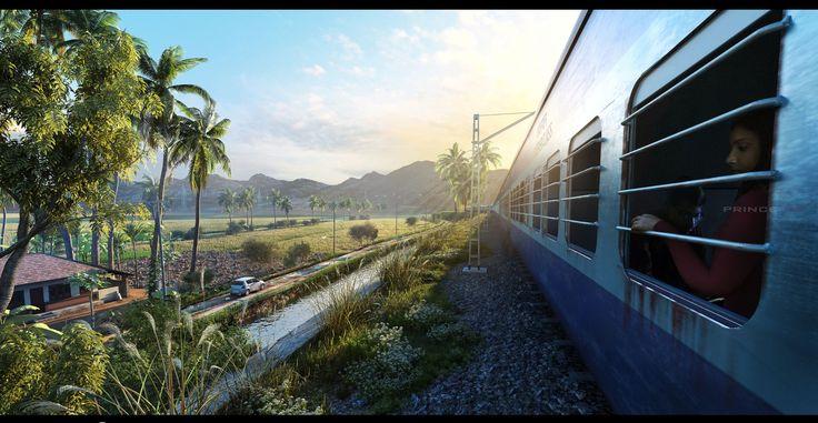 Recreation of train journey