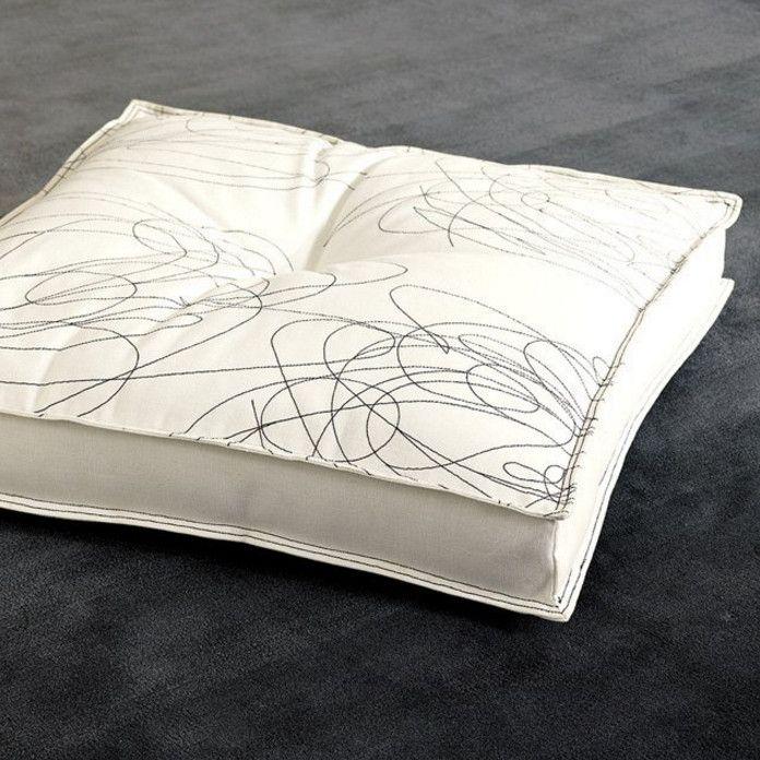 large floor cushions white