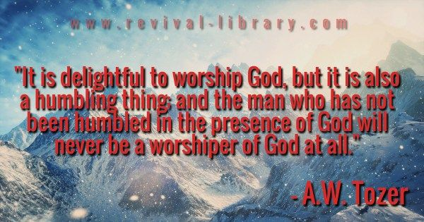 Humbled Before God