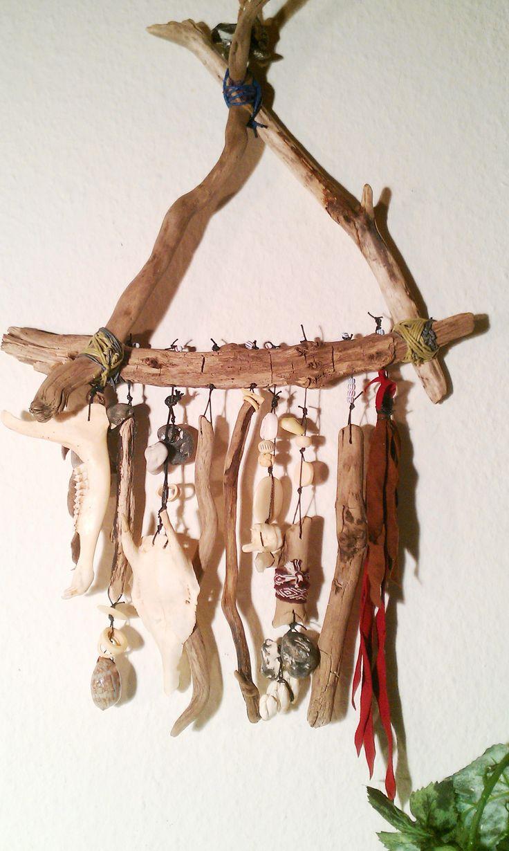 #Treibholz #Windspiel# Indian #Spirit handmade  Schönes #Natur #Treibholz… (Cool Crafts Shops)