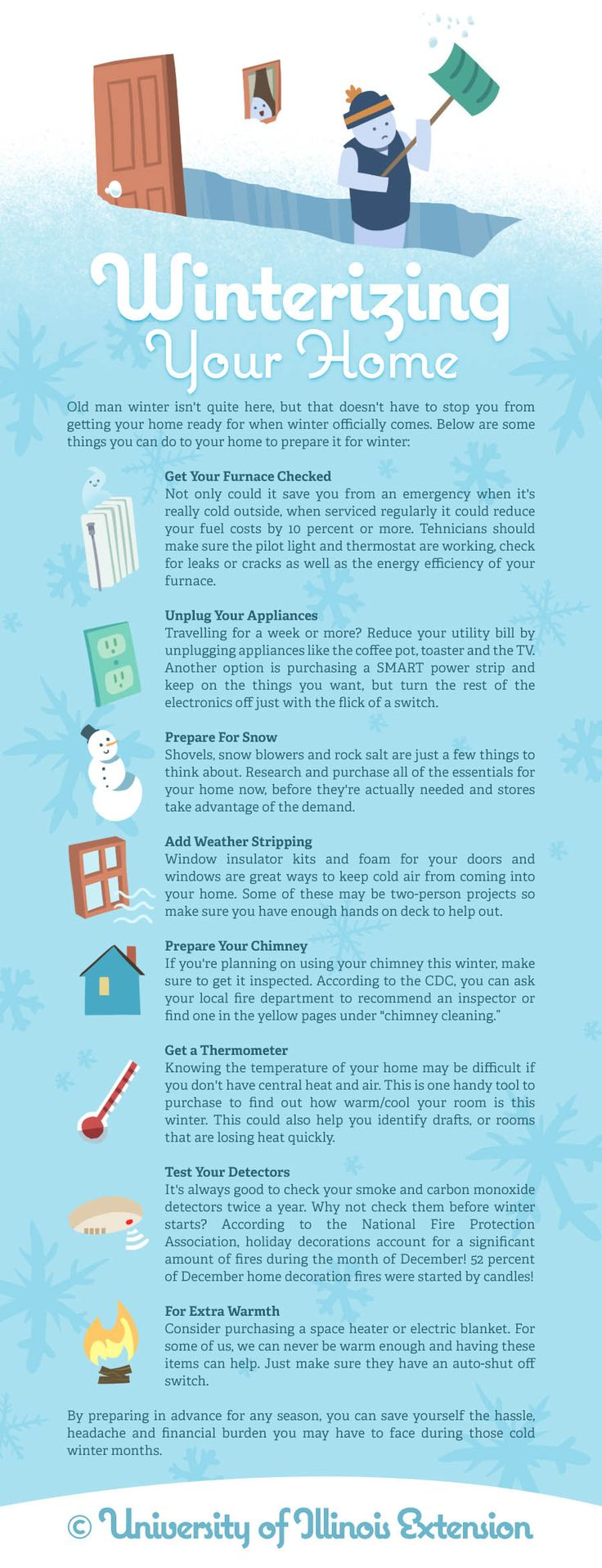 8 tips for preparing your home for winter.