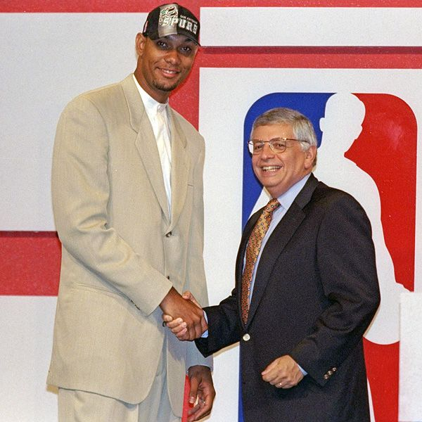San Antonio selected Tim Duncan with the No. 1 pick of the 1997 NBA draft.