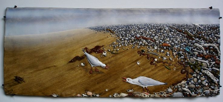 TIDELINE by CRAIG FLETCHER - Majuba Gallery #craigfletcher #ceramicart #NZartist #majubagallery #hanmersprings #seagulls #beach