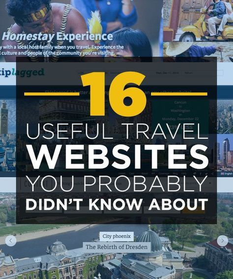 16 Useful Travel Websites You Probably Didn't Know About Travel Tips #travel #traveltips