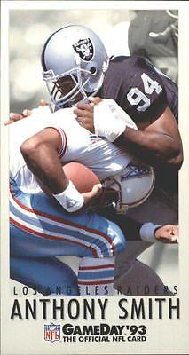 1993 GameDay Los Angeles Raiders Football Card #421 Anthony Smith