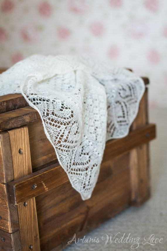Heart Lace Wedding Shawl by Artanis Wedding Lace on Etsy