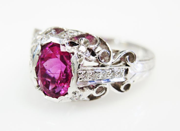 Pretty in Pink  #Tourmaline #Diamond #Vintage