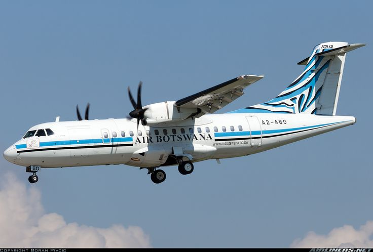 "Air Botswana Avions de Transport Régional ATR-42-500 A2-ABO ""Okavango"" on final approach to Zagreb-Pleso, August 2014. Fuel stop on the way to maintenance in Germany. (Photo: Boran Pivcic)"