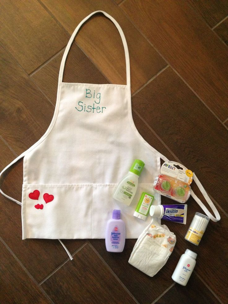 Baby Gift Ideas For Your Sister : Big sister apron basket children sisters