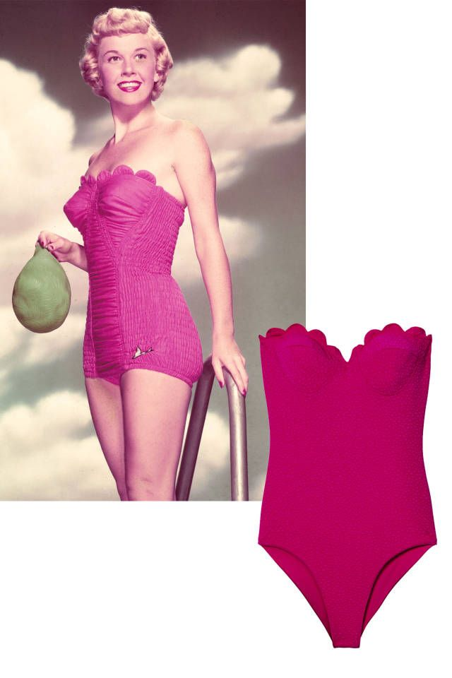 Recreate these 10 major retro swimsuit trends - click for more.