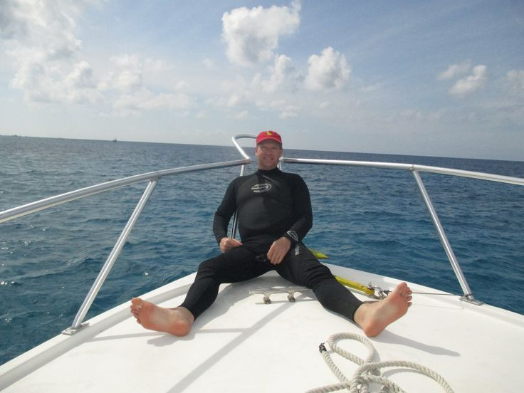 In between dives, Cozumel