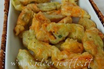Ricetta Fiori di zucca fritti… senza uovo!