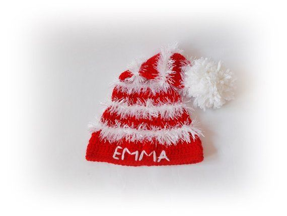 Personalized Christmas baby kids hat baby kids Santa hat Newborn Christmas Personalized  hat kids Nb-Child sizes available d67dd5d553a