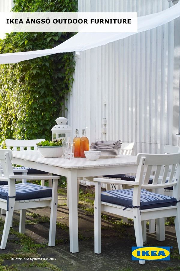 IKEA ÄNGSÖ Outdoor Dining Furniture Is Made From Durable Heartwood, The  Dense Inner Part Of