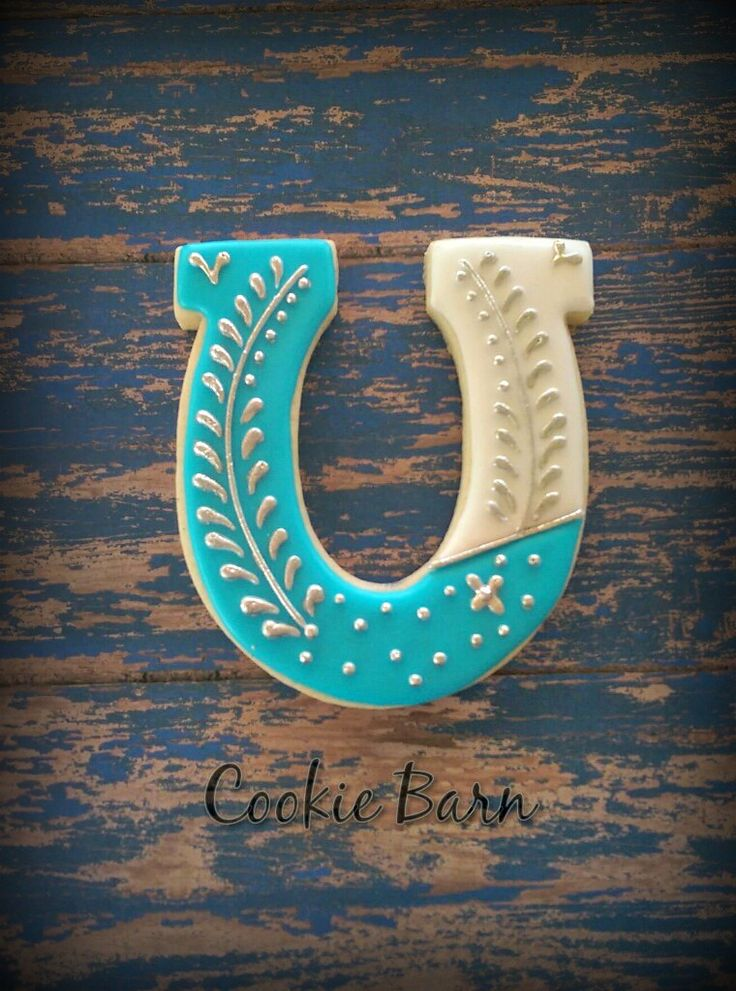 Horse Shoe Western Decorated Cookies