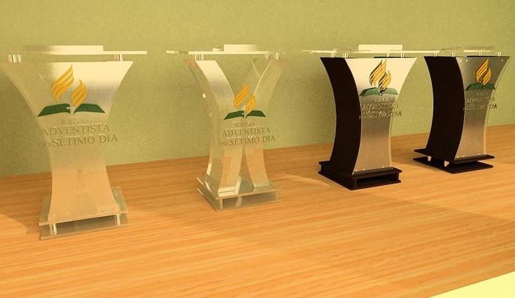 ' Púlpitos em acrílico e em madeira    Maiores Informações acesse o site: http://www.wix.com/kellyvidal05/kellyvidal