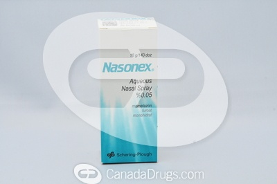 Nasonex Nasal Spray 50mcg - Manufactured by Schering-Plough(TM) All trade-mark rights associated with the brand name product belong to their respective owners.