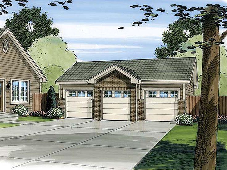 12 best car lift or auto lift garage plans images on for 3 car detached garage plans