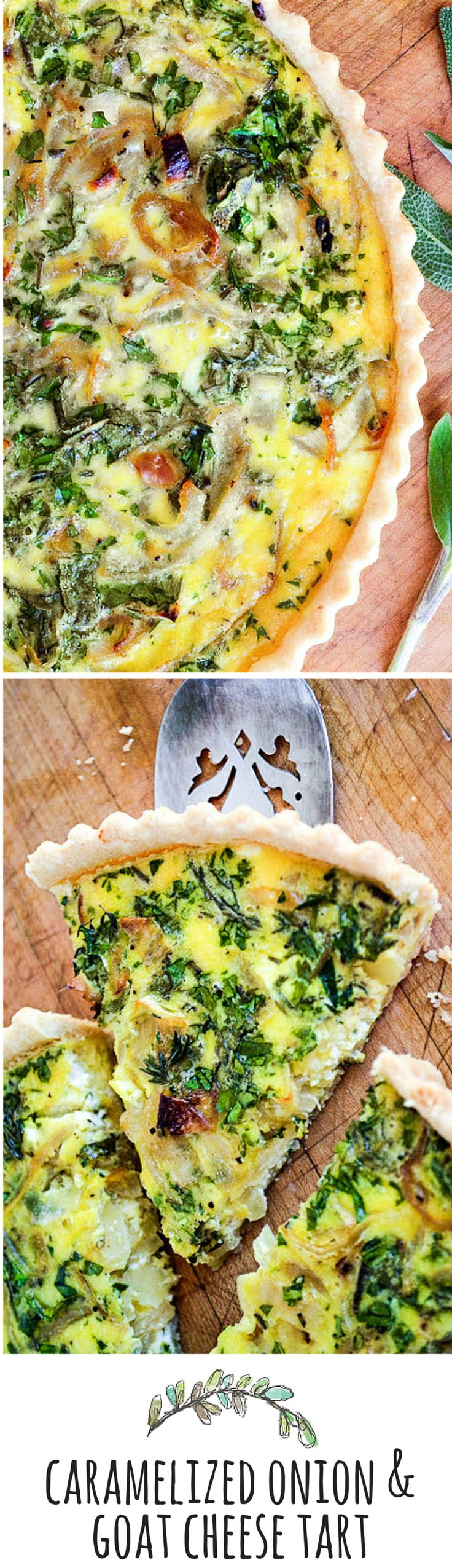 This elegant vegetarian tart is the perfect light summer meal, it's basically a quiche baked up in a prettier pan, with the flavors kicked up a few notches.