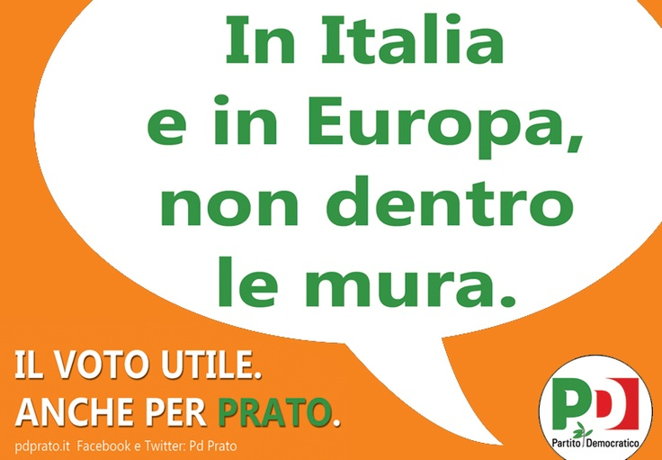 www.pdprato.it  0574.32141  partitodemocraticoprato@gmail.com  Comitato Elettorale:  Corso Mazzoni 32_ 59100 Prato  Partecipa e fai partecipare!  Il 24 e 25 febbraio 2013 vota e fai votare PD!  #ITALIAGIUSTA