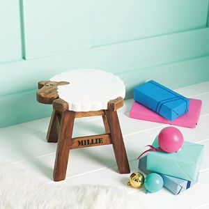 Personalised Wooden Sheep Stool - birthday gifts for children