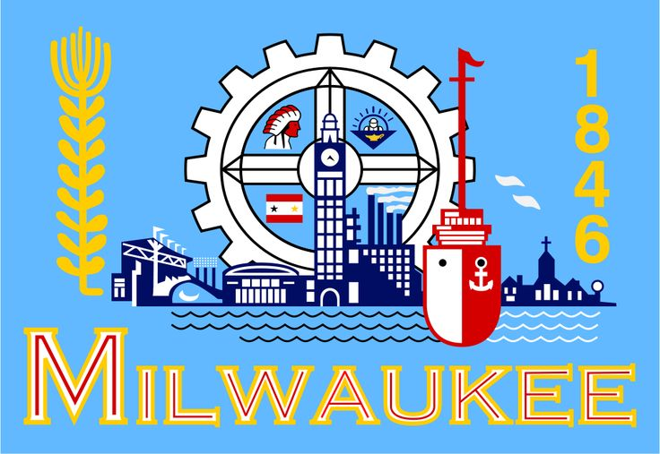Flag of Milwaukee, Wisconsin. Considered one of the worst design flags in the…