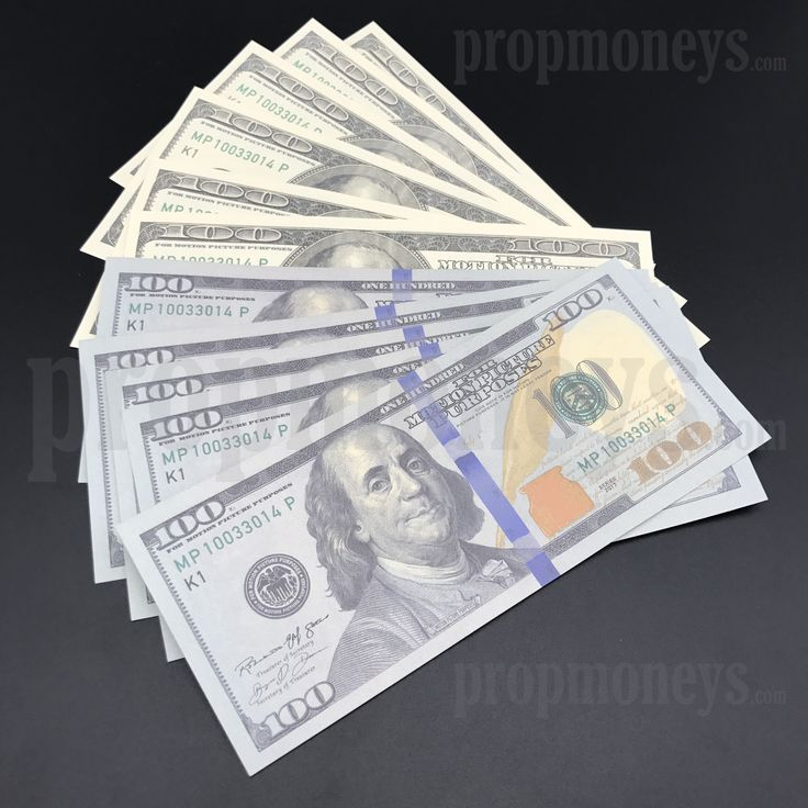 $100 Dollar Bills Mix - $1,000 - 2000s/New Style Prop Money