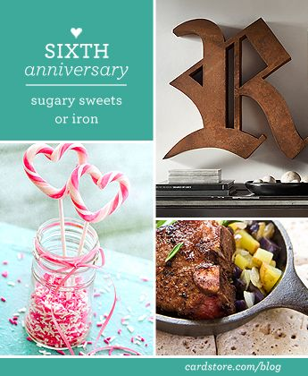 Sixth wedding anniversary gift ideas - sugary sweets or iron | Cardstore Blog