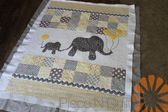 Susan sent me this darling Elephant quilt and asked me to custom machine quilt it for her. It's a fun quilt for her new grand-baby! ...